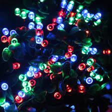 waterproof led solar string lights 22m 72ft 200 multi color