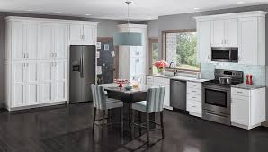 gray kitchen cabinets with black stainless steel appliances refrigerator buying guide warners stellian appliance