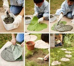 idee fai da te per il giardino foglie di cemento per il giardino â â bribrã â il mio turbante a pois