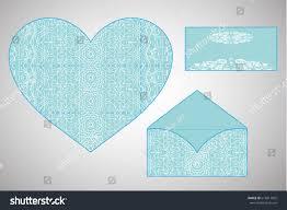 vector envelopes wedding invitation laser cut stock vector