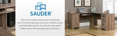 sauder 420606 palladia l desk vo a2 computer vintage oak amazon com sauder 417586 harbor view corner computer desk a2 salt