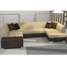 canapé marron convertible meuble salon canapé canapé angle convertible bicolore sofamobili