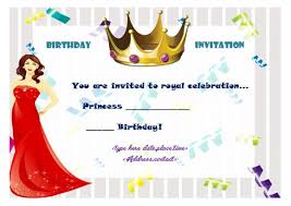 25 princess birthday party invitation templates theme u0026 party