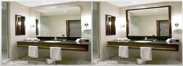 Frame A Bathroom Mirror With Molding Frame Bathroom Mirror Framed With Crown Molding Hometalk Golfocd