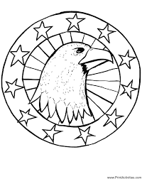 eagle coloring page an eagle u0027s head surrounded by stars