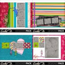 8x11 photo album digital scrapbooking kits pyjama party 8x11 album carolnb