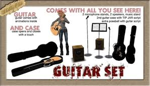 Shabby Chic Guitars by Second Life Marketplace Shabby Chic 9 Piece Guitar Set Tip Jar