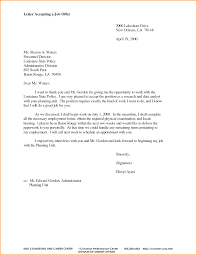 thank you letter after accepting a job images letter format examples