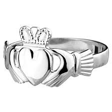 mens claddagh ring solvar standard claddagh ring mens sterling silver