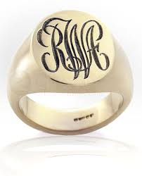 Monogram Gold Ring Monogram Rings
