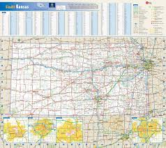 Kansas national parks images Large detailed roads and highways map of kansas state with jpg
