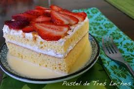 traditional pastel de tres leches or three milks cake calls for