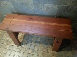 Wooden Shower Stool Ana White Redwood Shower Bench Diy Projects