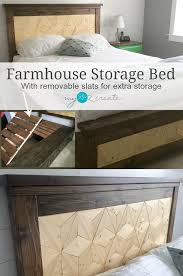 Bed Frame With Storage Diy Farmhouse Storage Bed My Love 2 Create