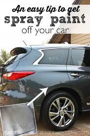 Interior Car Spray Paint An Easy Tip To Get Spray Paint Off A Car Ask Anna