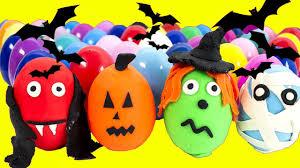 halloween surprise eggs play dough eggs halloween movies surprise