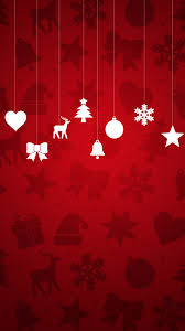minimal christmas ornaments red background android wallpaper jpg