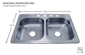 Kitchen Sinks Top Mount Stainless Steel Double Bowl Kitchen Sink 33