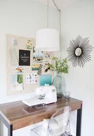 alluring real sewing room decor showcasing idyllic home wooden