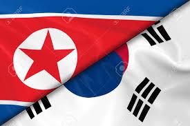 Korea Flag Image Flags Of North Korea And South Korea Divided Diagonally 3d
