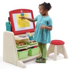 Desk Easel For Drawing Flip U0026 Doodle Easel Desk With Stool Kids Art Easel Step2