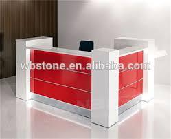 Reception Desk Small Cusomized White And Red Small Office Reception Desk Cash Counter