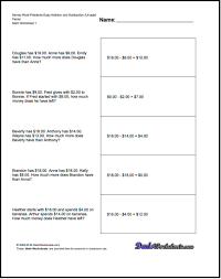 adding and subtracting money worksheet worksheets