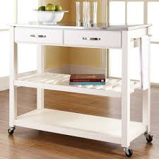 kitchen island cart stainless steel top three posts gothard kitchen island with stainless steel top