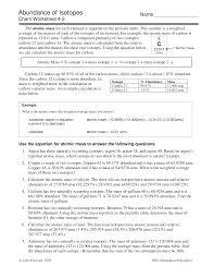 average atomic mass calculations 3 documents