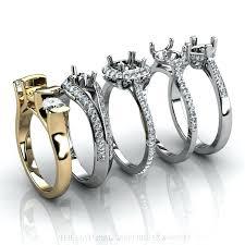 ring mountings wedding ring mountings two tone wedding ring mountings