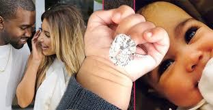 Kim Kardashian Wedding Ring by Baby U0026 Bling Kim Kardashian Celebrates U0027amazing U0027 Year With Pic Of