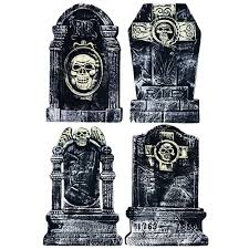 amazon com halloween tombstone 20 inch 4 piece set for creepy