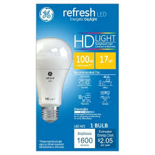 ge hd light refresh refresh daylight hd 100watt equivalent a21 led 1pk target