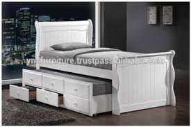 Bed With Pull Out Bed Wooden Pull Out Box Bed Design Captain Single Wood Buy Single