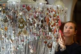 lost earrings digitalhub chandelier made from lost earrings debuts in scotland