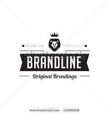 logo ribbon vintage label badge logo design vector stock vector 416888806