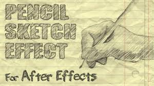 pencil sketch effect after effects youtube