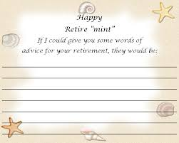 advice to the cards retirement advice card theme rosemary exclusive
