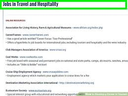 travel and tourism jobs images 3 ways to develop a career in tourism wikihow jpg