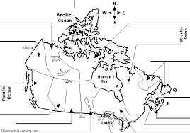 blank political map of canada label canadian provinces map printout enchantedlearning