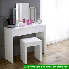 White High Gloss Computer Desk by White High Gloss 2 Drawer Dressing Console Table Bedroom
