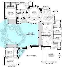 courtyard home designs u shaped home designs beautiful u shaped house plans with