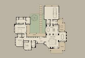 Sopranos House Floor Plan by One Story Home Plans With Courtyard
