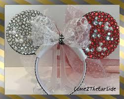 hidden mickey valentine disney christmas ear rhinestone pearl