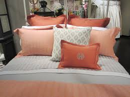 Modern Bedroom Furniture Ideas by Bedroom Great Coral Bedding Sets With Square Pillow On Wooden Bed