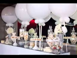 white party table decorations all white party decor ideas youtube