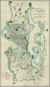 Map Of Seattle Neighborhoods by 1911 Bogue Plan Of Seattle Including Parks And Rapid Transit Map
