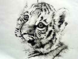 ch402 baby tiger embroidery design 3 99 golden needle white baby