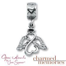 kay jewelers open heart kay charmed memories open hearts angel charm sterling silver