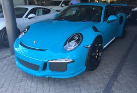 miami blue porsche turbo s miami blue porsche 991 gt3 rs arrives in cape town south africa